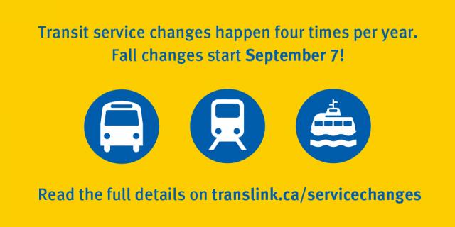 september Service changes
