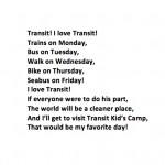 Kai wrote us an I Love Transit poem!