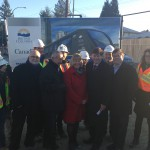 Left to right: Ron McKinnon, MP for Coquitlam-Port Coquitlam, Minister Peter Fassbender, MLA Linda Reimer, Port Moody-Coquitlam, Barry Forbes, Board Chair, TransLink, Mayor of Port Moody Mike Clay