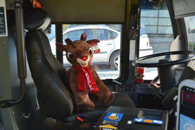 Rudolph reindeer bus