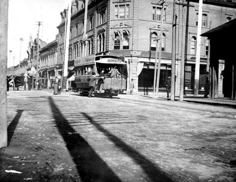streetcar Fort St Victoria 1890s