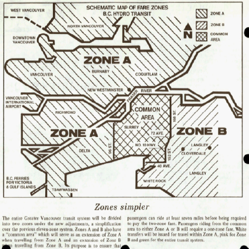 1976: A Common Area is introduced for short trips that cross a zone boundary