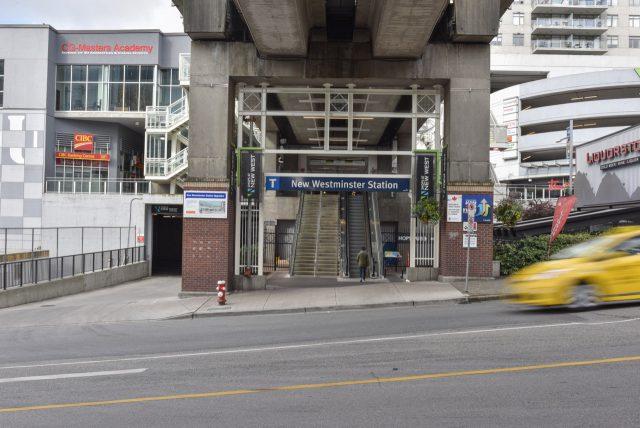 New West east station entrance
