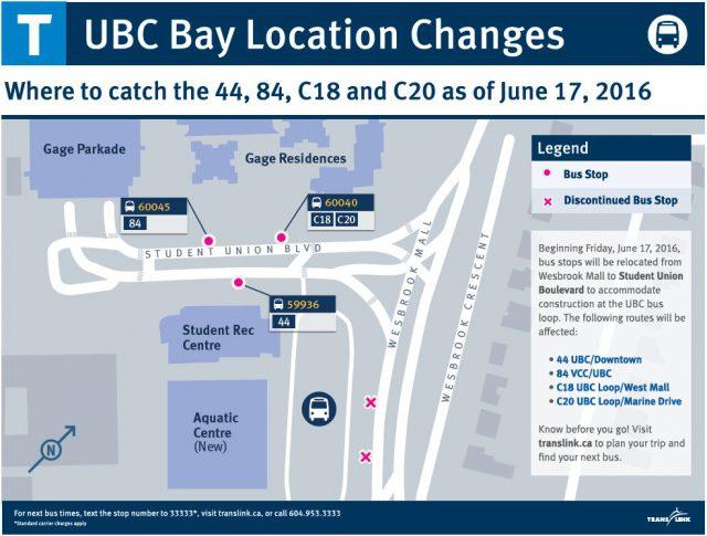 Bus stop relocations begin June 17