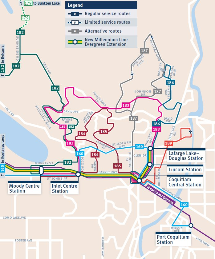 The Buzzer Blog 187 Bus Route Buzz Port Moody And North