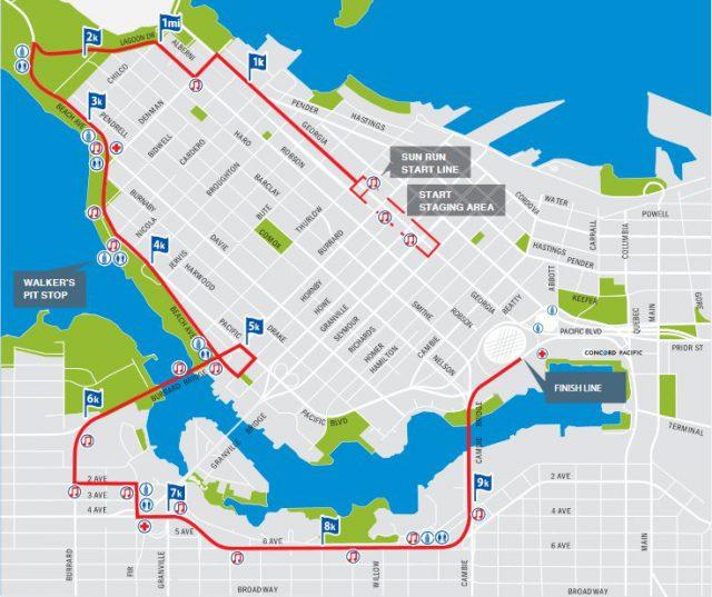 2017 Sun Run course