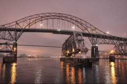 Pattullo Bridge at Night