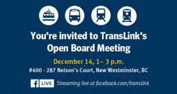 December Open Board Meeting