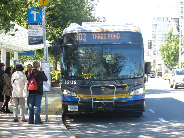 Photo of the 403 Three Road/Bridgeport Station bus