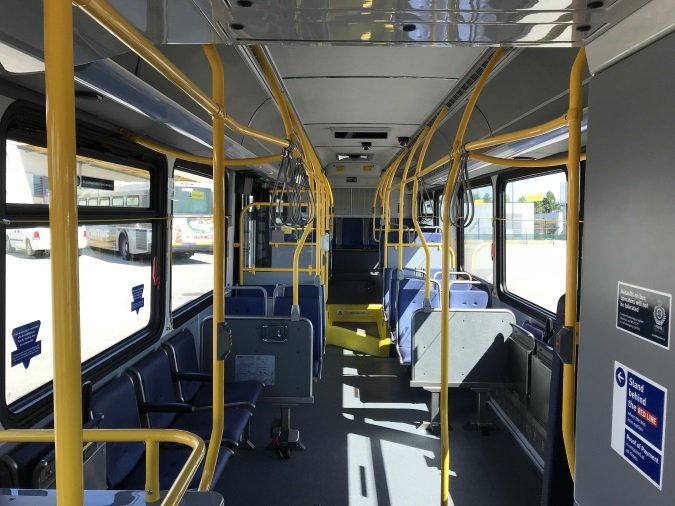 Interior of CNG Bus