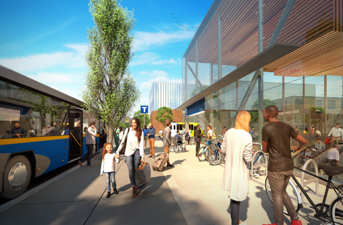 Rendering of the Millennium Line Broadway Extension