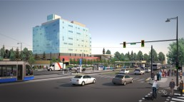 Rendering of the Surrey-Newton-Guildford LRT
