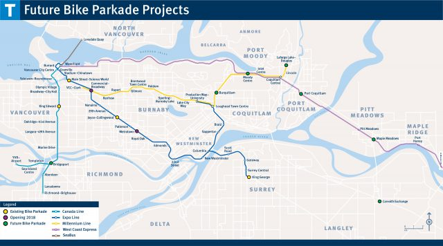 Future Bike Parkade Projects