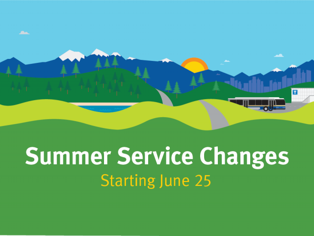 Summer Service Changes start June 25