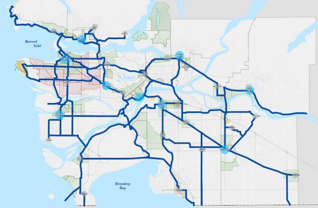 Interim Major Bikeway Network map