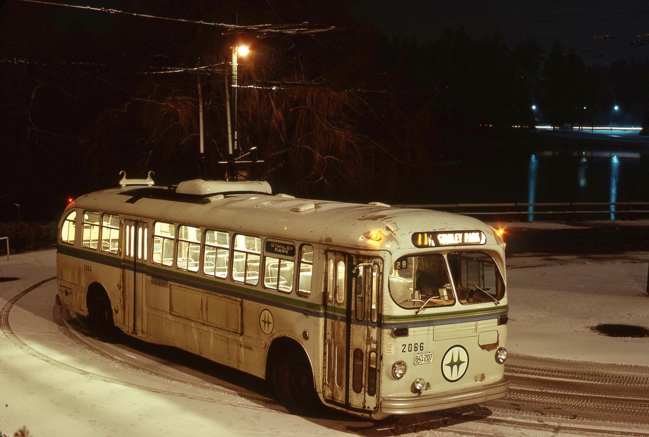 Winter at Stanley Park Loop circa 1974