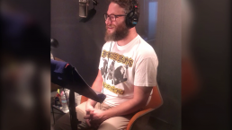 Behind the Scenes: Seth Rogen Recording His Guest Voice Announcements