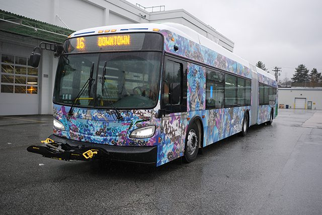 TransLink art-wrapped bus