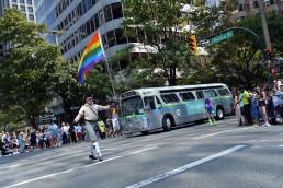 Bus in 2018 Pride Parade