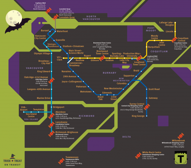 Your ultimate 2019 guide to transit trick-or-treating