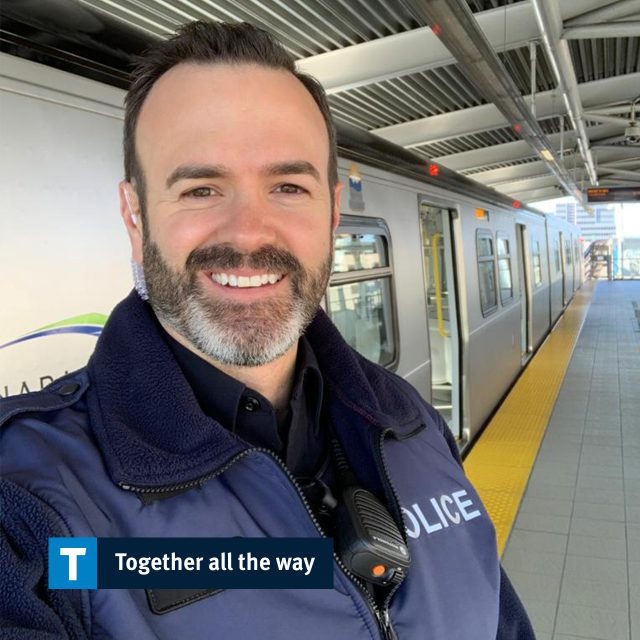 Constable Mike Yake with Metro Vancouver Transit Police