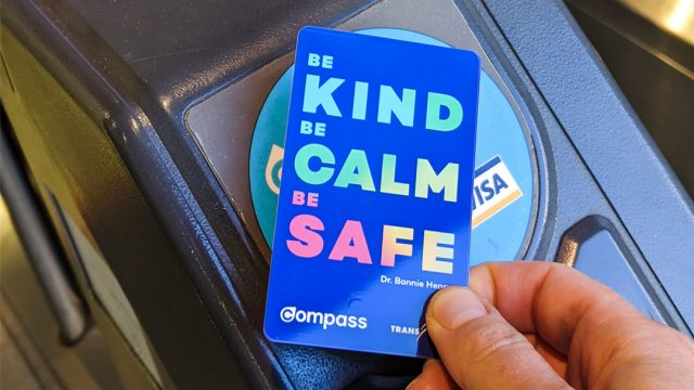 """New compass card with """"Be Kind Be Calm Be Safe"""""""