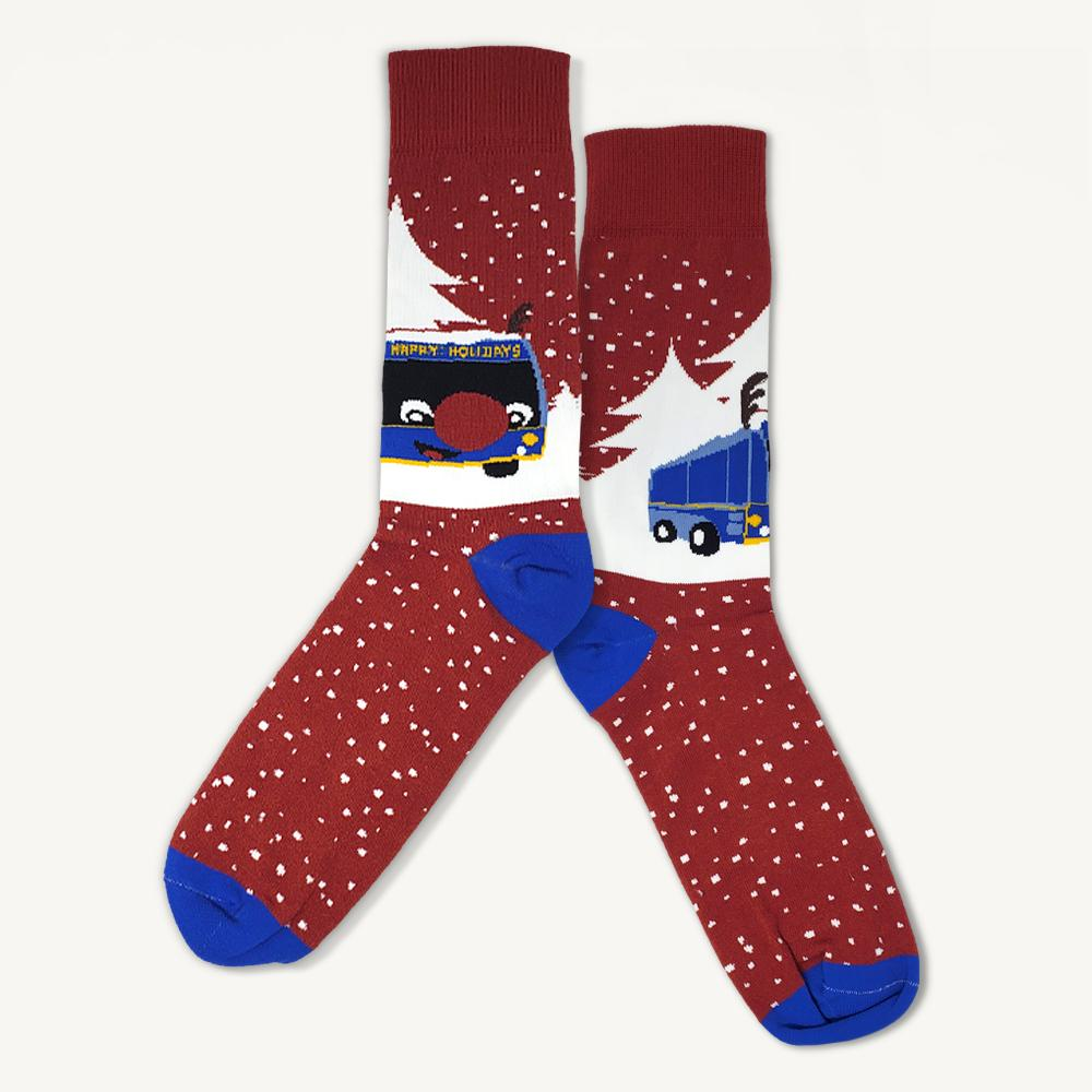 Reindeer Bus socks