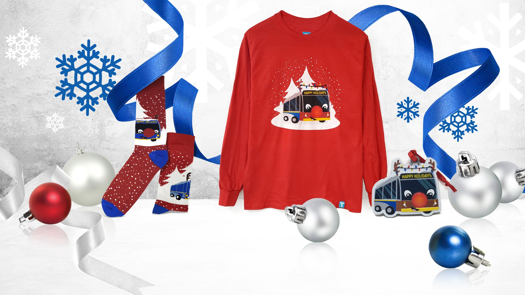 The new Reindeer Bus merchandise