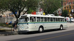 The 1957 Canaidan Car-Brill CD52A, one of the many buses preserved by the Transit Museum Society.