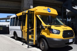 A HandyDART vehicle parked at VCC–Clark Station