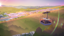 Rendering of the Burnaby Mountain Gondola
