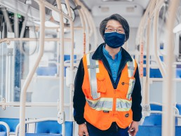 Photo of Bus Operator Frank Tsai who helped save a life