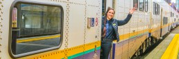 Laura Pineault, a West Coast Express train conductor