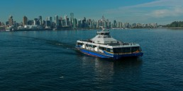 SeaBus sailing across the Burrard Inlet