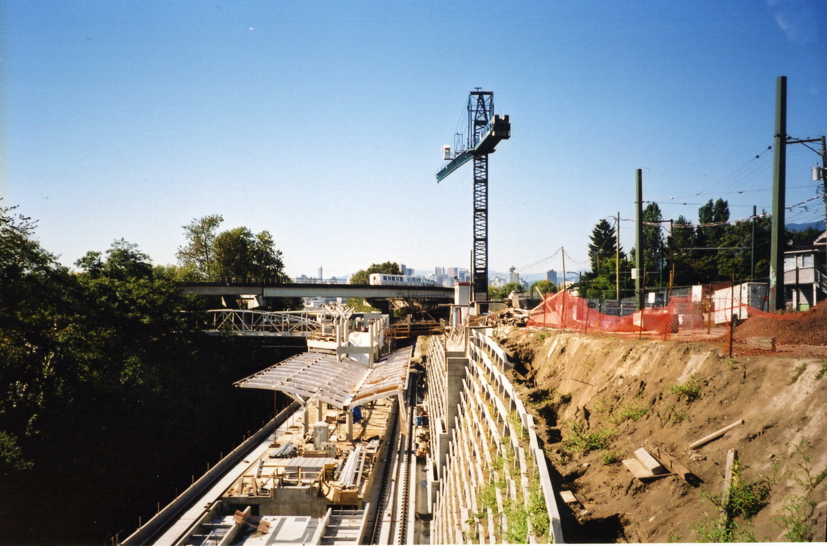 Millennium Line's Commercial Station under construction in September 2001 (Photo Credit - Mike on Flickr)