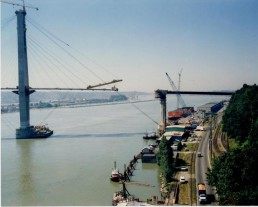 The SkyBridge under construction (Photo by Gordie McDonald, NWPF photo no. 2467)
