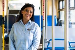 A portrait of bus operator Paramjit Grewal