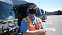 A portrait of bus operator Frank Tsai
