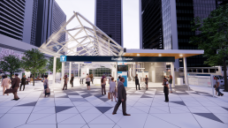 Rendering of the upgraded Burrard Station entrance plaza