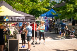 Bike to Shop event held by HUB Cycling