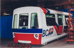 The Mark II Mockup from the front of the train.