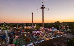 The PNE Fair at dusk