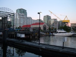 The Shipyards District in North Vancouver