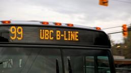 99 UBC B-Line destination sign